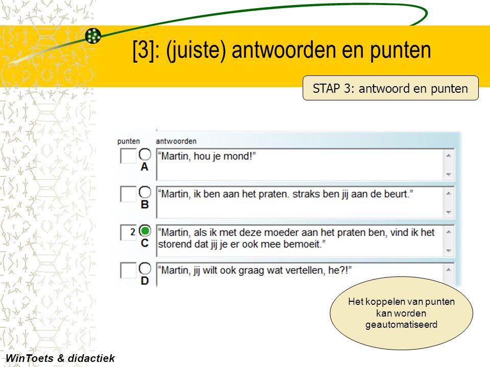 [3]: (juiste) antwoorden en punten
